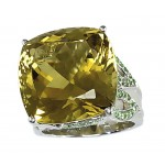 """Sudraba gredzens ar citrīnu """"Karaliskais Citrīns II"""" no 925 proves sudraba"""