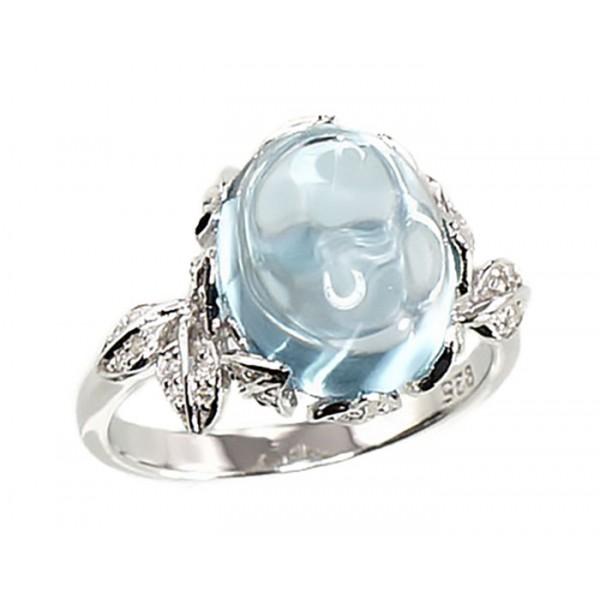 """Sudraba gredzens ar topāzu """"Mēness V"""" no 925 proves sudraba"""