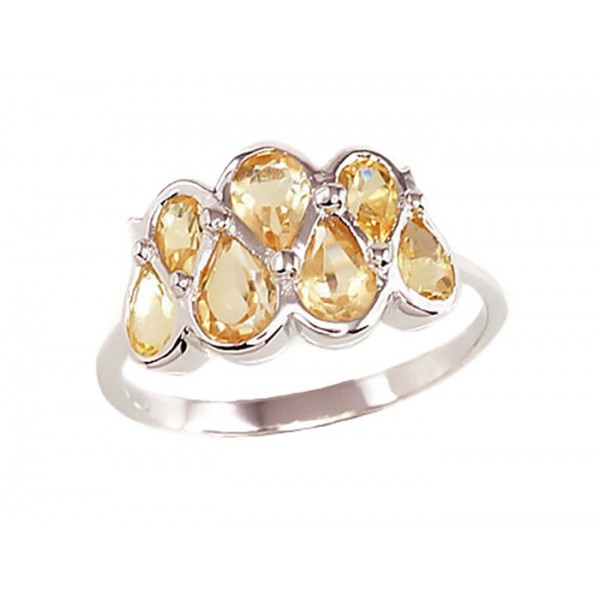 "Sudraba gredzens ar citrīnu ""Luīza"" no 925 proves sudraba"