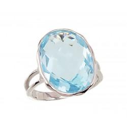 "Sudraba gredzens ar topāzu ""Mēness"" no 925 proves sudraba"