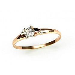 """Zelta gredzens ar briljantiem """"Solitire"""" no 585 proves dzeltenā zelta"""