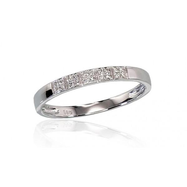"""Zelta gredzens ar briljantiem """"Zelta Mīlestība"""" no 585 proves baltā zelta"""