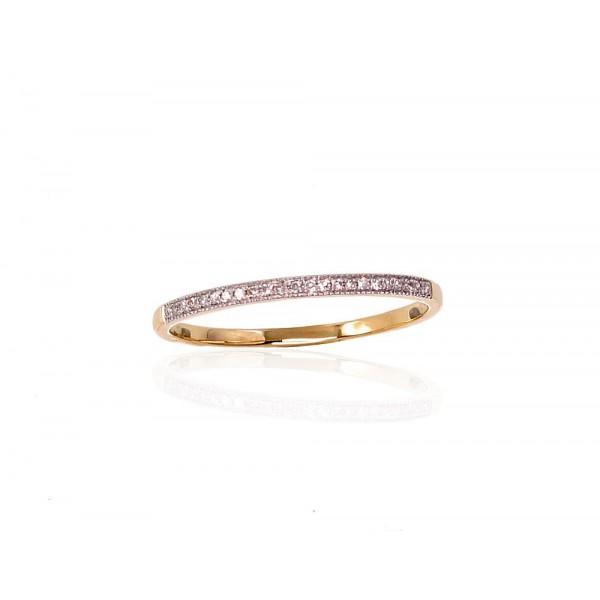 "Zelta gredzens ar briljantiem ""Babilona"" no 585 proves dzeltenā zelta"