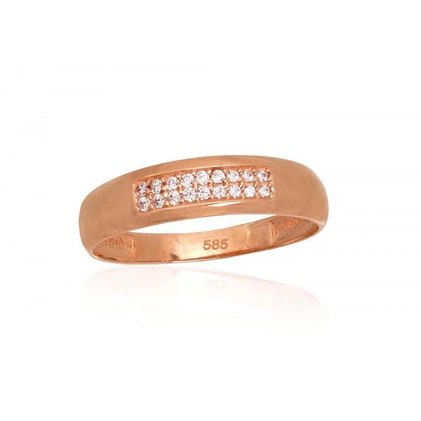 """Zelta gredzens """"Zvaigžņotās Debesis IV"""" no 585 proves sarkanā zelta"""
