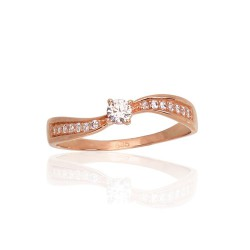 """Zelta gredzens ar topāzu """"Komēta XI"""" no 585 proves sarkanā zelta"""