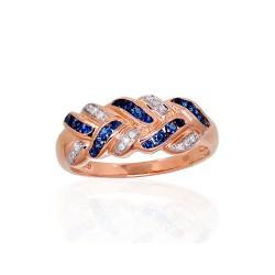 "Zelta gredzens ar briljantiem ""Zelta Raksts XIII"" no 585 proves sarkanā zelta"