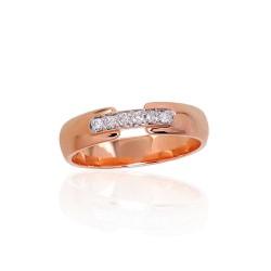 """Zelta gredzens ar briljantiem """"Tokija XII"""" no 585 proves sarkanā zelta"""