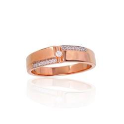 """Zelta gredzens ar briljantiem """"Tokija XIII"""" no 585 proves sarkanā zelta"""