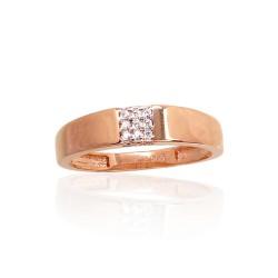 """Zelta gredzens """"Otton"""" no 585 proves sarkanā zelta"""