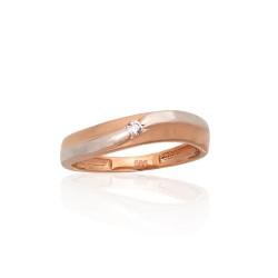 """Zelta gredzens """"Jaunā Klasika XII"""" no 585 proves sarkanā zelta"""