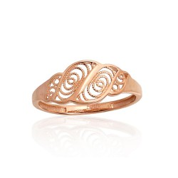 "Zelta gredzens ""Versaļa VI"" no 585 proves sarkanā zelta"