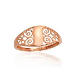 """Zelta gredzens """"Versaļa VII"""" no 585 proves sarkanā zelta"""