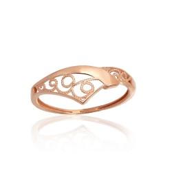 """Zelta gredzens """"Versaļa VIII"""" no 585 proves sarkanā zelta"""