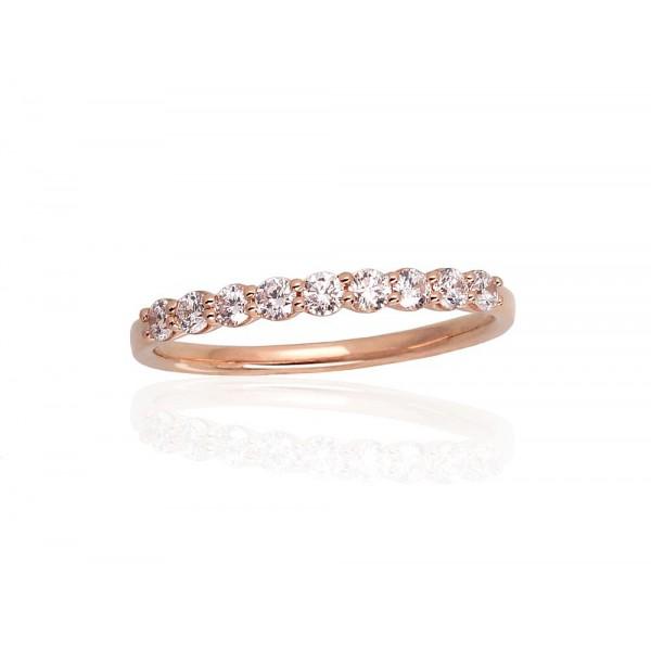 "Zelta gredzens ar briljantiem ""Babilona IX"" no 585 proves sarkanā zelta"