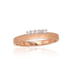"""Zelta gredzens ar briljantiem """"Tokija XXXII"""" no 585 proves sarkanā zelta"""