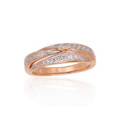 "Zelta gredzens ar briljantiem ""Zelta Raksts XIV"" no 585 proves sarkanā zelta"