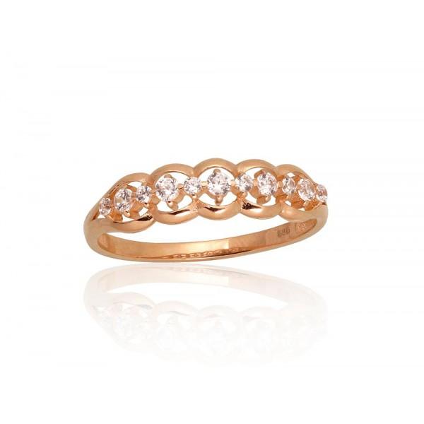"Zelta gredzens ""Andželika"" no 585 proves sarkanā zelta"