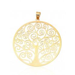 "Zelta kulons ""Dzīvības Koks"" no 585 proves dzeltenā zelta"