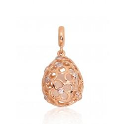 """Zelta kulons ar pērlēm """"Pamela"""" no 585 proves sarkanā zelta"""