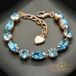 "Aproce ""Šiks II (Aquamarine Blue)"" ar Swarovski™ kristāliem"