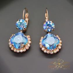 "Auskari ""Klaris VI (Light Sapphire Shimmer)"" ar Swarovski™ kristāliem"