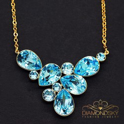 """Kulons """"Fillori Burvība (Aquamarine Blue)"""" ar Swarovski™ kristāliem"""