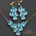 "Komplekts ""Fillori Burvība (Aquamarine Blue)"" ar Swarovski™ kristāliem"