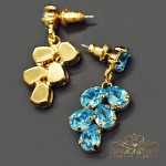 "Auskari ""Amber II (Aquamarine Blue)"" ar Swarovski™ kristāliem"