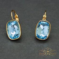 "Auskari ""Luksors (Aquamarine Blue)"" ar Swarovski™ kristāliem"