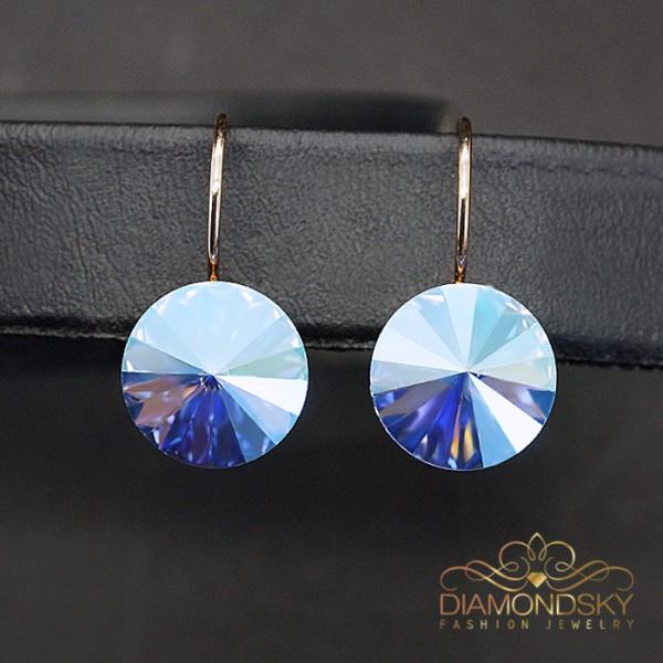 """Auskari """"Klaris II (Sapphire Shimmer)"""" ar Swarovski™ kristāliem"""
