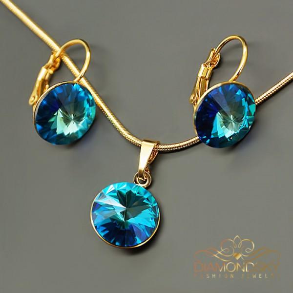 """Komplekts """"Klaris II (Bermuda Blue)"""" ar Swarovski™ kristāliem"""