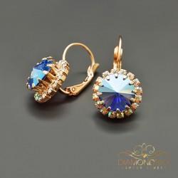 """Auskari """"Klaris IX (Sapphire Shimmer)"""" ar Swarovski™ kristāliem"""