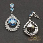 "Auskari ""J'Adore II (Light Sapphire Shimmer)"" ar Swarovski™ kristāliem"