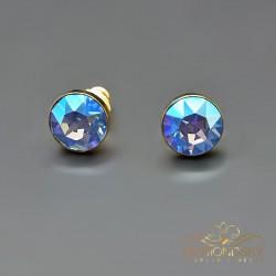 "Auskari ""Klasika (Light Sapphire Shimmer)"" ar Swarovski™ kristāliem"