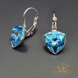 """Auskari """"Bermudu Trīsstūris (Aquamarine Blue)"""" ar Swarovski™ kristāliem"""