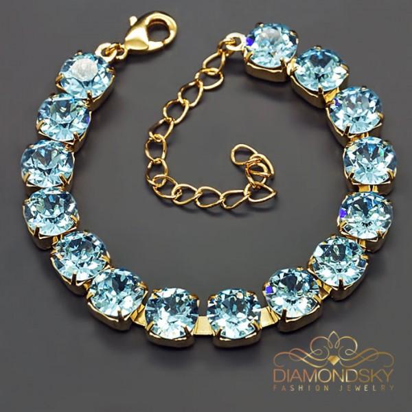 "Aproce ""Klasika (Aquamarine Blue)"" ar Swarovski™ kristāliem"