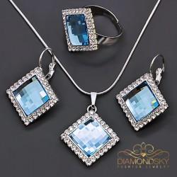 "Komplekts ""Adelija III (Aquamarine Blue)"" ar Swarovski™ kristāliem"