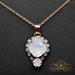"Kulons ""Dīva II (Rose Water Opal)"" ar Swarovski™ kristāliem"