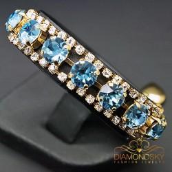 """Aproce """"Kristāla Važas (Aquamarine Blue)"""" ar Swarovski™ kristāliem"""