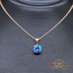 "Kulons ""Junona (Light Sapphire Shimmer)"" ar Swarovski™ kristāliem"