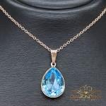 """Kulons """"Kristāla Lāse II (Aquamarine Blue)"""" ar Swarovski™ kristāliem"""