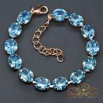 "Aproce ""Venus II (Aquamarine Blue)"" ar Swarovski™ kristāliem"