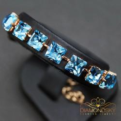 "Aproce ""Princese (Aquamarine Blue)"" ar Swarovski™ kristāliem"