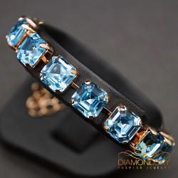 """Aproce """"Imperial (Aquamarine Blue)"""" ar Swarovski™ kristāliem"""