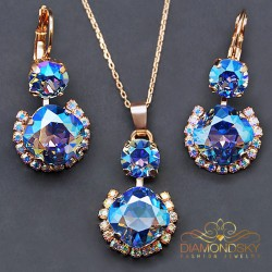 "Komplekts ""Klaris VI (Light Sapphire Shimmer)"" ar Swarovski™ kristāliem"