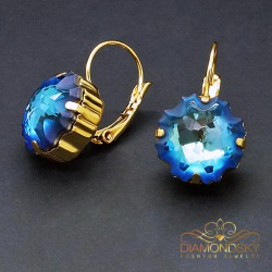 "Auskari ""Medūza (Bermuda Blue)"" ar Swarovski™ kristāliem"