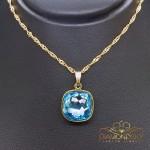 "Kulons ""Fantāzija II (Aquamarine Blue)"" ar Swarovski™ kristāliem"