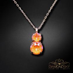 "Kulons ""Junona IV (Orange Glow DeLite)"" ar Swarovski™ kristāliem"