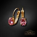 "Auskari ""Baroka Spogulis II (Fancy Pink)"" ar Swarovski Zirconia Pure Brilliance kristāliem"