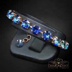 """Aproce """"Klasika II (Bermuda Blue)"""" ar Swarovski™ kristāliem"""